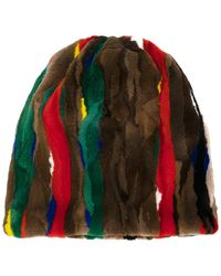 Marni - Patch Striped Hat - Lyst