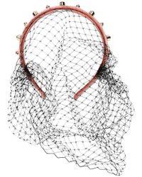 RED Valentino - Red(v) Embellished Mesh Hairband - Lyst
