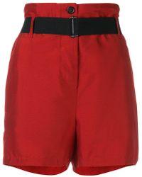 Ann Demeulemeester - Belted High-waist Shorts - Lyst