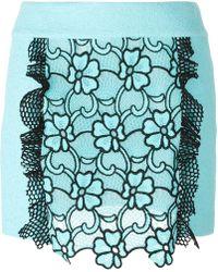 Emanuel Ungaro - Flower Motif Short Skirt - Lyst