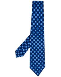 Kiton - Floral Square Print Tie - Lyst