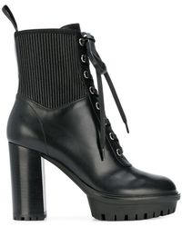 Gianvito Rossi - Lace Up Ankle Boots - Lyst