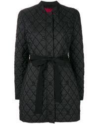 Moncler - Quilted Tie Waist Padded Jacket - Lyst