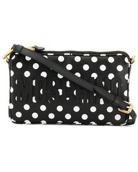 d7049e992a42 Lyst - Dolce   Gabbana Small Polka Dot Print Shoulder Bag in White