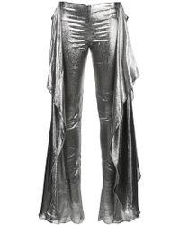 Paula Knorr - Relief Metallic (grey) Trousers - Lyst