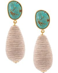 Lizzie Fortunato - Turquoise Drop Earrings - Lyst