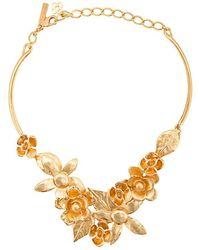 Oscar de la Renta - Flower Necklace - Lyst