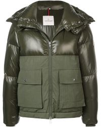 Moncler - Panelled Padded Coat - Lyst