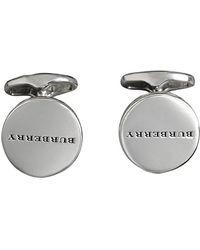 Burberry - Engraved Bronze Oval Cufflinks - Lyst