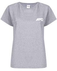 A.P.C. - Loose Fitted T-shirt - Lyst