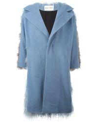 Sandy Liang | Mingo Denim and Shearling Coat | Lyst