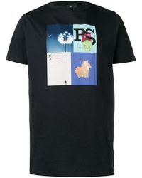 PS by Paul Smith - Dark Navy Graphic T-shirt - Lyst