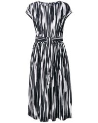 Woolrich - Abstract Print Belted Dress - Lyst
