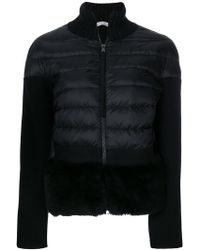Moncler - Cardigan With A Padded Front - Lyst