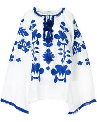March 11 - Tassel Embroidered Blouse - Lyst