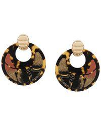 Gas Bijoux - Shagreen Hoop Clip-on Earrings - Lyst
