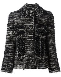 Simone Rocha - Beaded Tweed Fitted Jacket - Lyst