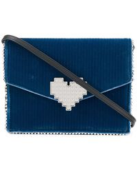 Les Petits Joueurs - Heart Embellished Crossbody Bag - Lyst