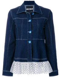 House of Holland - Polka Dot Ruffled Hem Jacket - Lyst