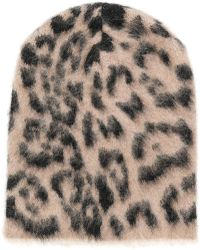Laneus - Leopard Print Beanie - Lyst