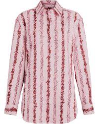 Burberry - Scribble Stripe Cotton Shirt - Lyst