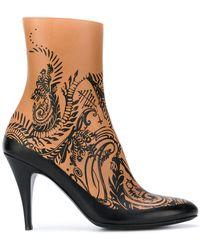 A.F.Vandevorst - Patterned Ankle Boots - Lyst