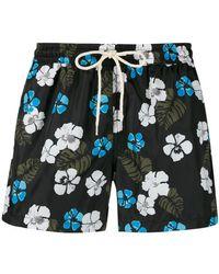 NOS Beachwear - Short de bain à fleurs - Lyst