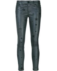 RTA - Star Print Cropped Trousers - Lyst