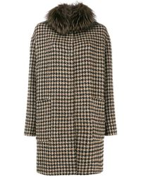 Manzoni 24 - Houndstooth Fitted Coat - Lyst
