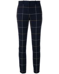 Sonia by Sonia Rykiel - Checked Tapered Trousers - Lyst