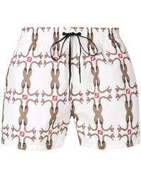 d7a9caa9dc352 Lyst - Fendi Printed Swimming Shorts in Yellow for Men
