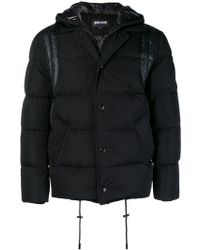 Just Cavalli - Padded Button Coat - Lyst