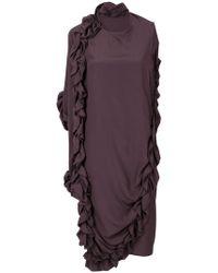 Marni - Ruffle Asymmetric Dress - Lyst