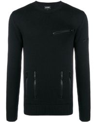Les Hommes - Fine Knit Fitted Sweater - Lyst