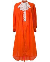Tsumori Chisato - Contrast Lace Trim Dress - Lyst