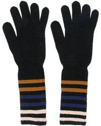 Sonia Rykiel - Striped Cuff Gloves - Lyst