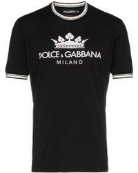 Dolce & Gabbana - Crown Logo T-shirt - Lyst