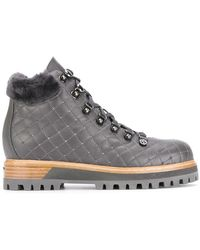 Le Silla - Quilted Mountain Boots - Lyst
