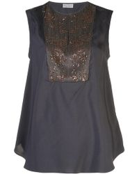 Brunello Cucinelli - Embellished Tank Top - Lyst