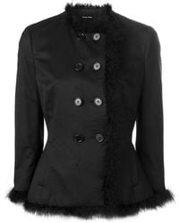 Simone Rocha - Feather Trim Fitted Jacket - Lyst