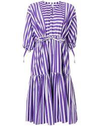 Maison Rabih Kayrouz - Striped Flared Dress - Lyst
