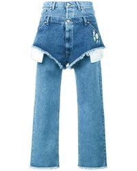Natasha Zinko - Boyfriend Fitted Jeans With Layered Shorts - Lyst