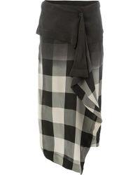 Masnada - Asymmetric Draped Skirt - Lyst