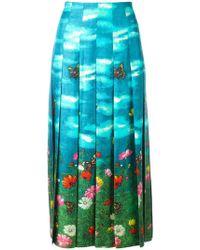 Gucci - Garden Print Skirt - Lyst