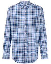 Canali - Checked Shirt - Lyst