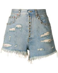 Gucci - Distressed Fitted Shorts - Lyst