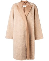 Ports 1961 - Oversized Shearling Coat - Lyst