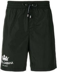 Dolce & Gabbana - Contrast Logo Swim Shorts - Lyst
