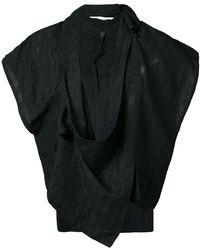 Barbara I Gongini - Sleeveless Wrap Jacket - Lyst
