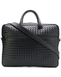 84b650cd17 Bottega Veneta - Portadocumenti con design Intrecciato - Lyst